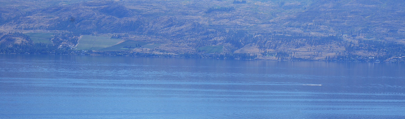 Lake Okanagan has had a fairly unique geological development.